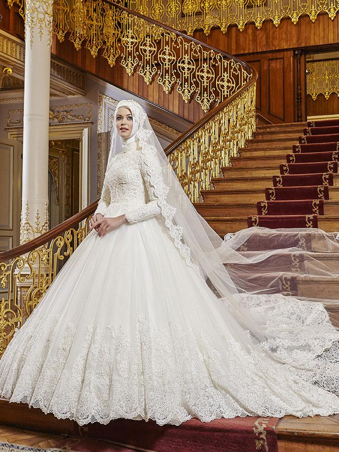 فساتين زفاف تركي مطرزة